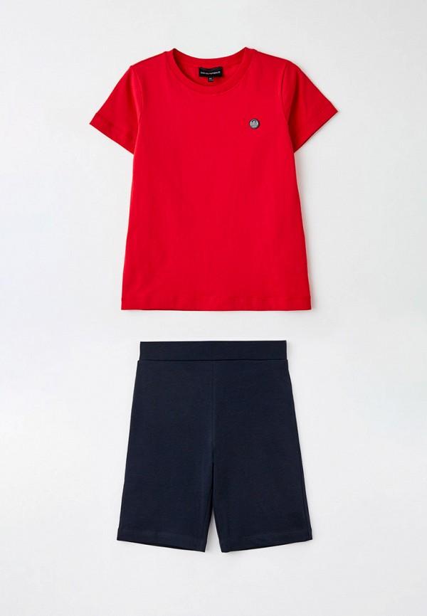 спортивный костюм emporio armani для мальчика, разноцветный