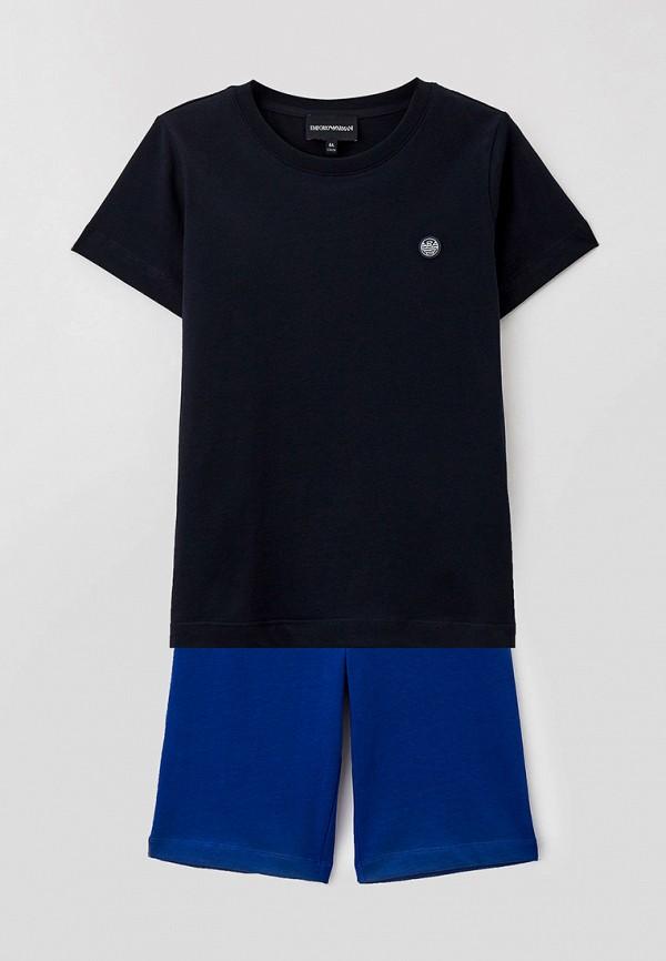 спортивный костюм emporio armani для мальчика, синий