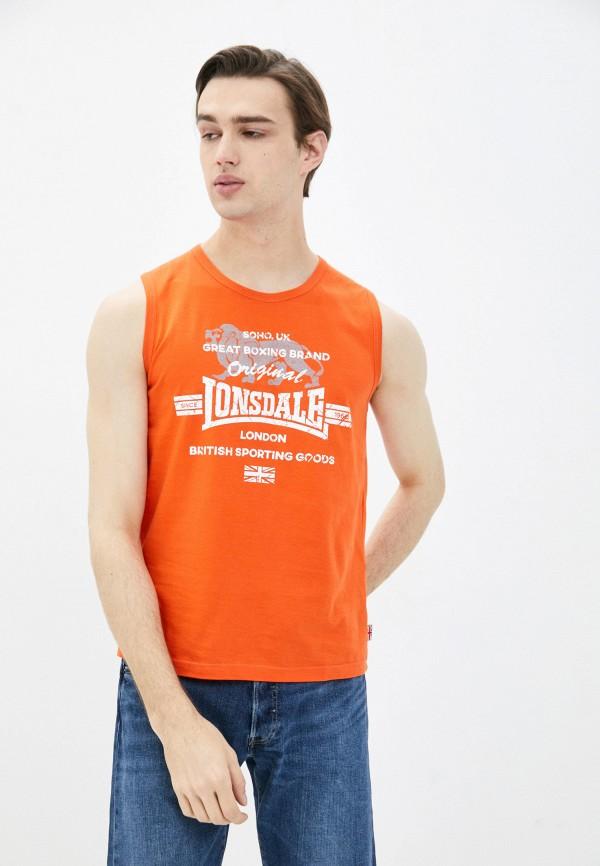 мужская спортивные майка lonsdale, оранжевая