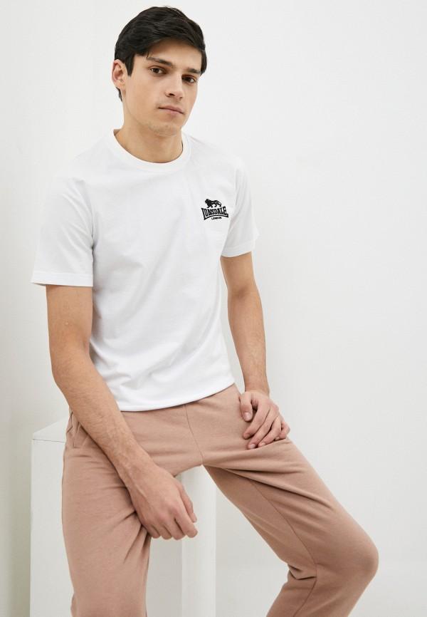 мужская спортивные футболка lonsdale, белая