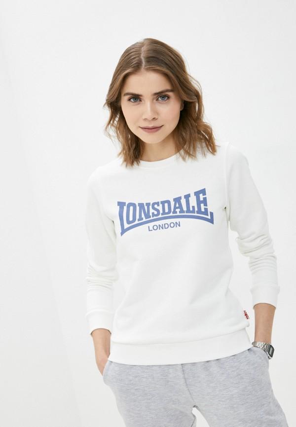 женский свитшот lonsdale, белый