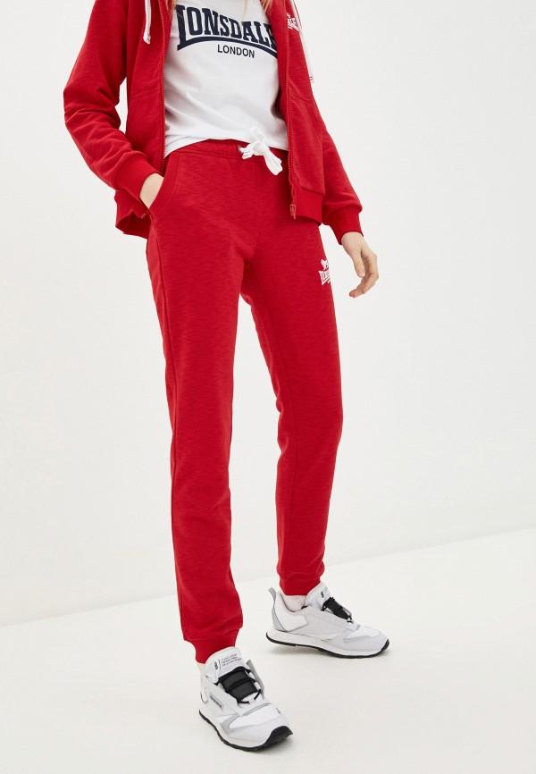 женские спортивные брюки lonsdale, красные