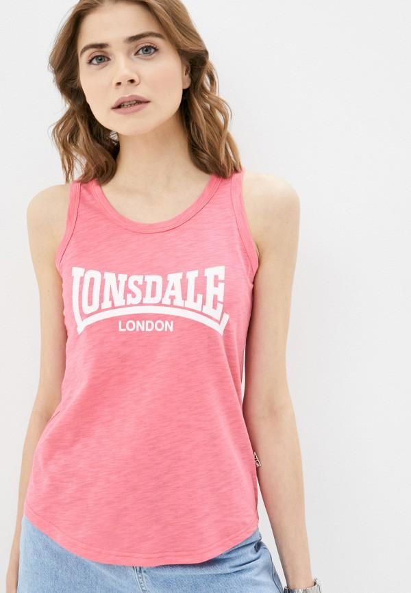 женская спортивные майка lonsdale, розовая