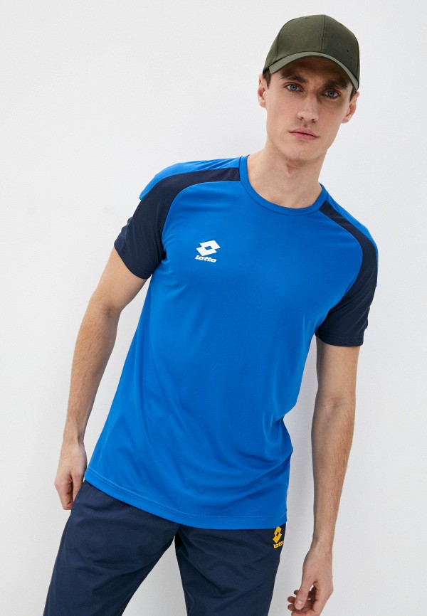 мужская спортивные футболка lotto, голубая