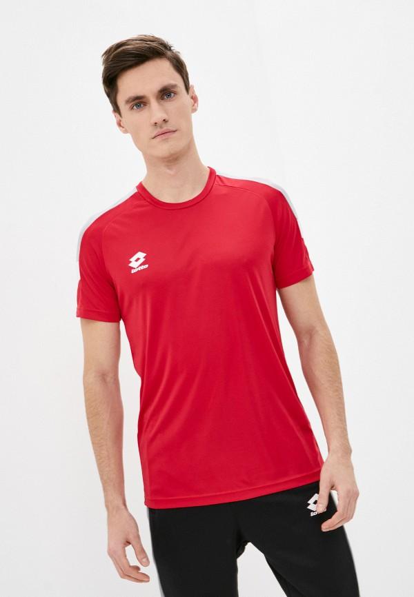 мужская спортивные футболка lotto, красная