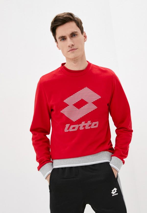 мужской свитшот lotto, красный