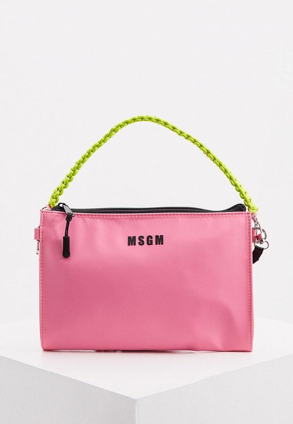 женская сумка msgm, розовая