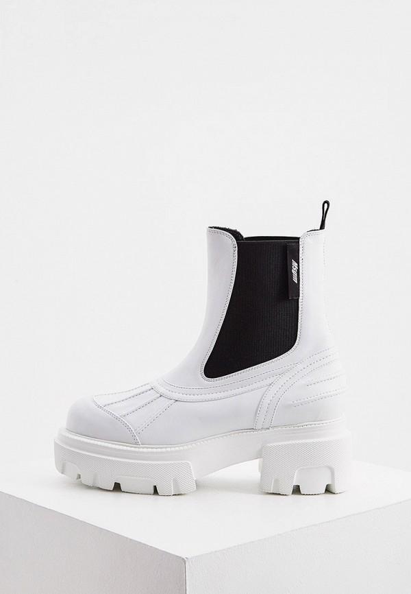 женские ботинки-челси msgm, белые