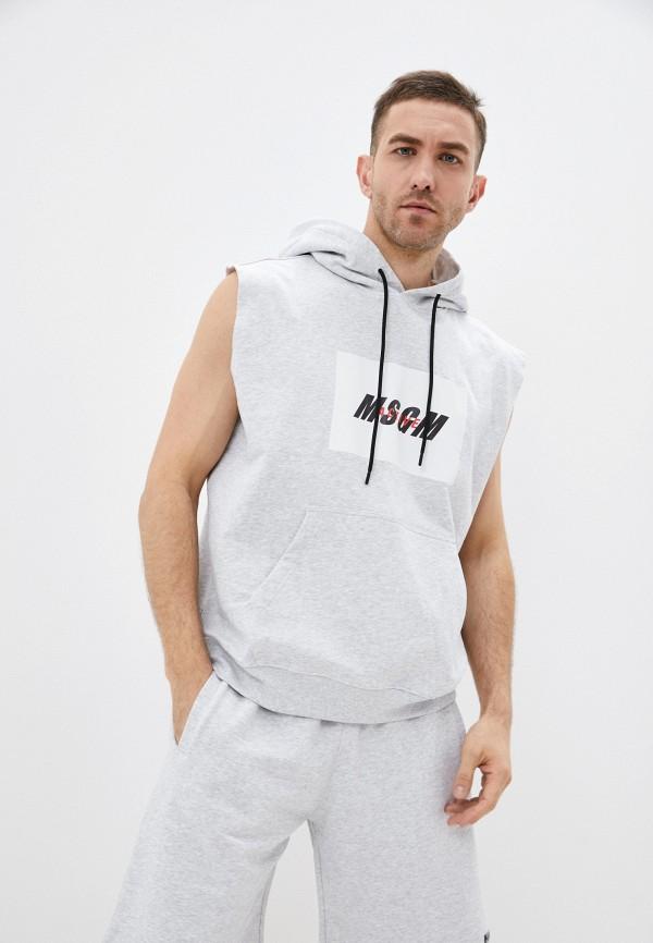 мужской жилет msgm, серый