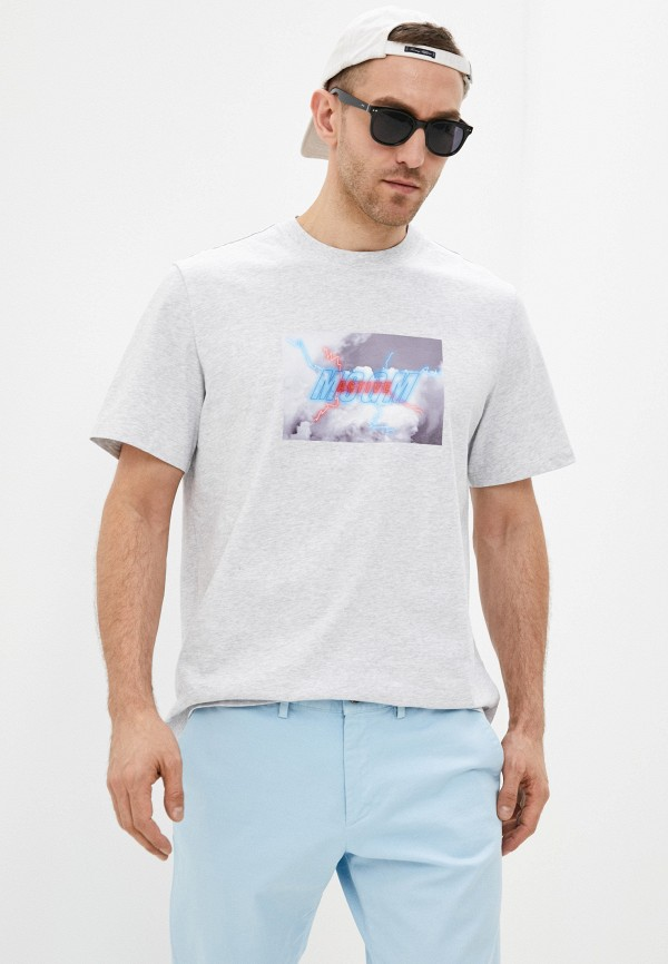 мужская футболка msgm, серая