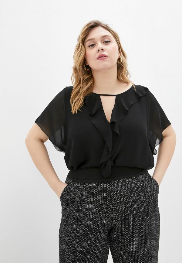 женская блузка persona by marina rinaldi, черная