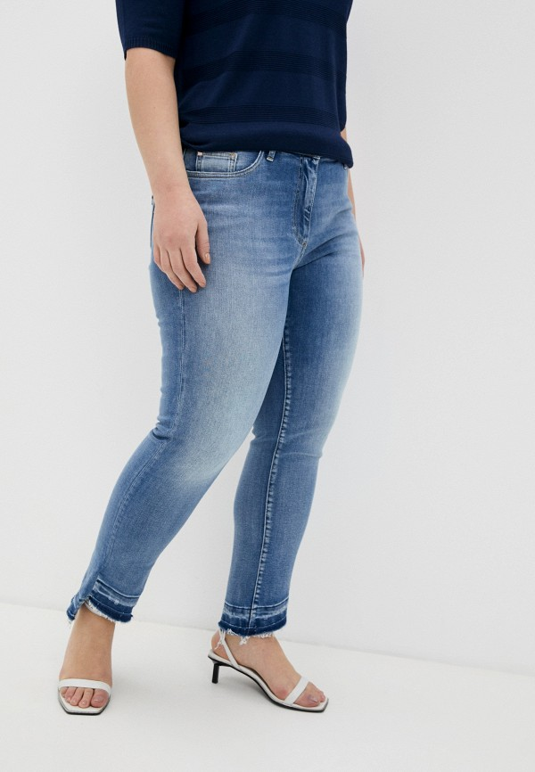 женские джинсы бойфренд persona by marina rinaldi, голубые