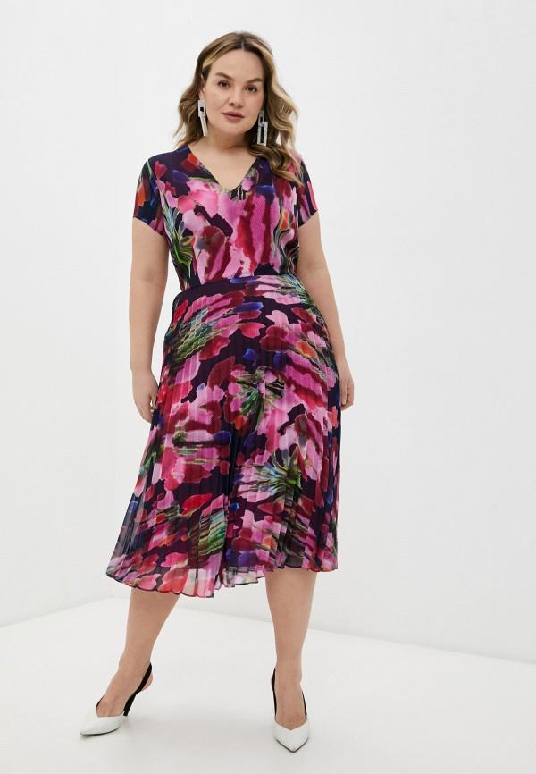 женское повседневные платье persona by marina rinaldi, разноцветное