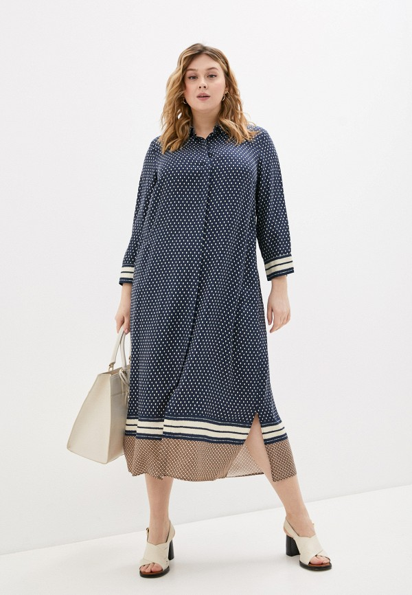 женское повседневные платье persona by marina rinaldi, синее