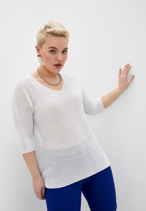 женский пуловер persona by marina rinaldi, бежевый