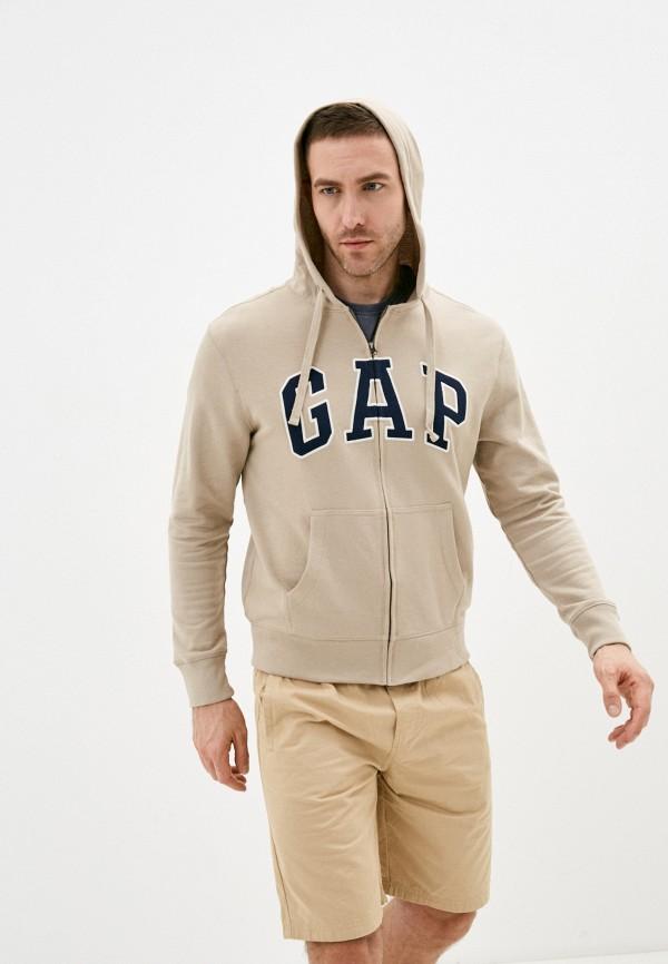 мужская толстовка gap, бежевая