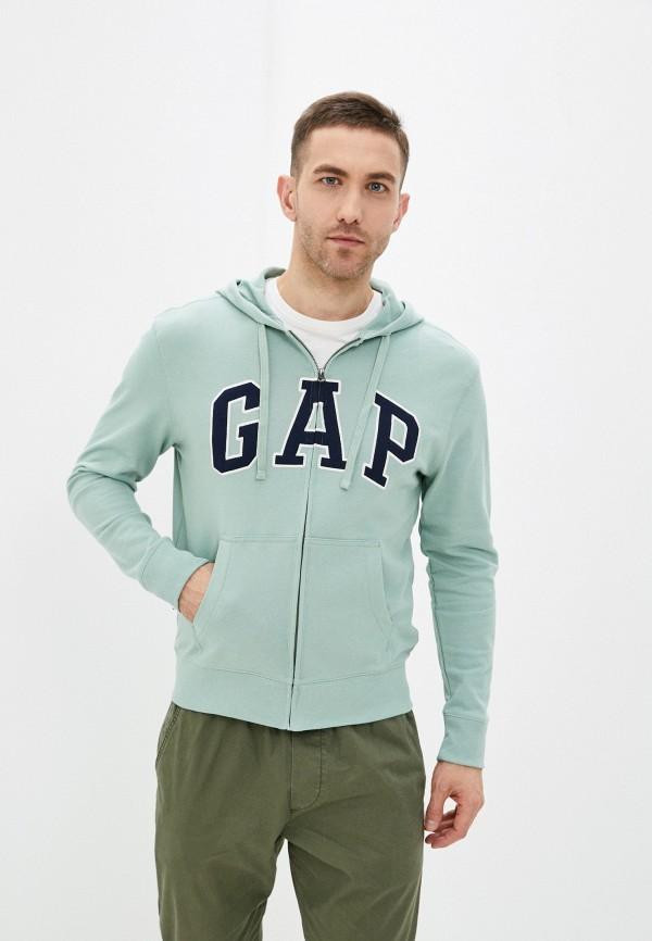 мужская толстовка gap, зеленая
