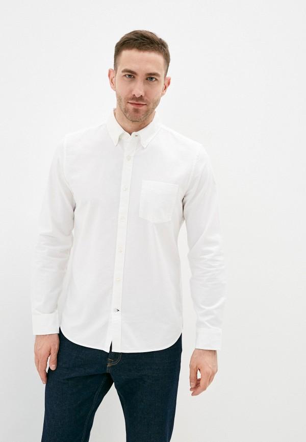 мужская рубашка с длинным рукавом gap, белая