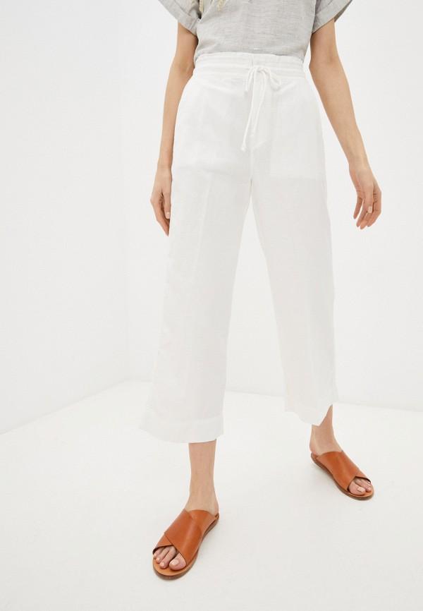 женские брюки клеш gap, белые
