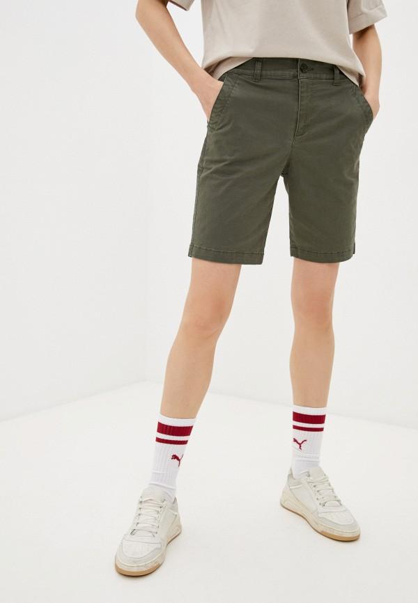 женские повседневные шорты gap, хаки