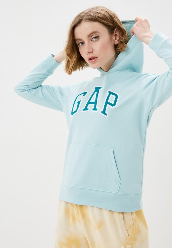 женские худи gap, голубые