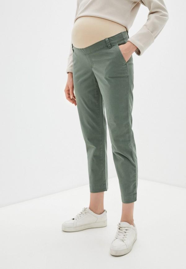 женские повседневные брюки gap maternity, хаки