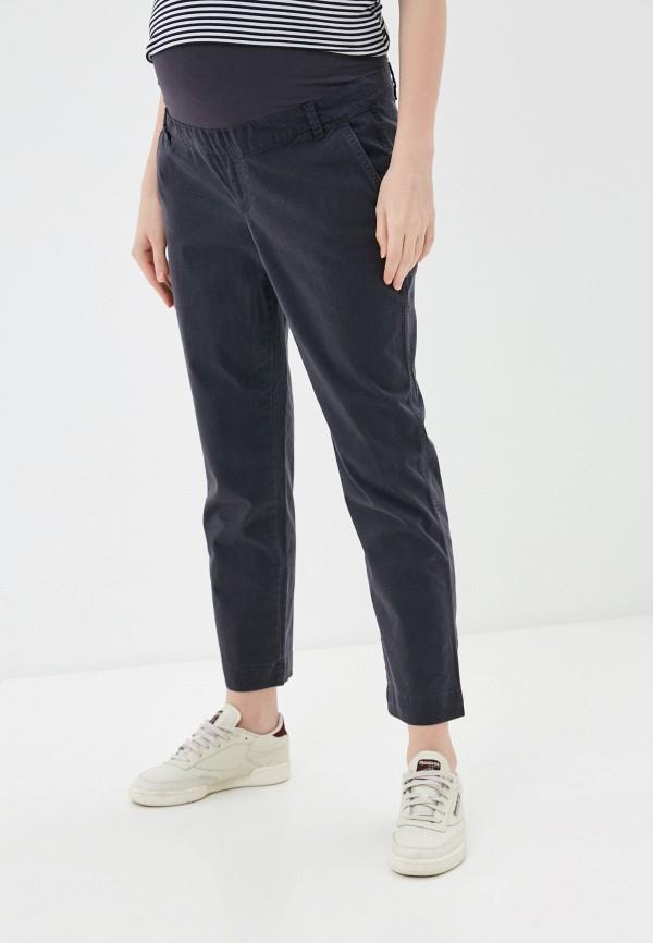 женские зауженные брюки gap maternity, серые