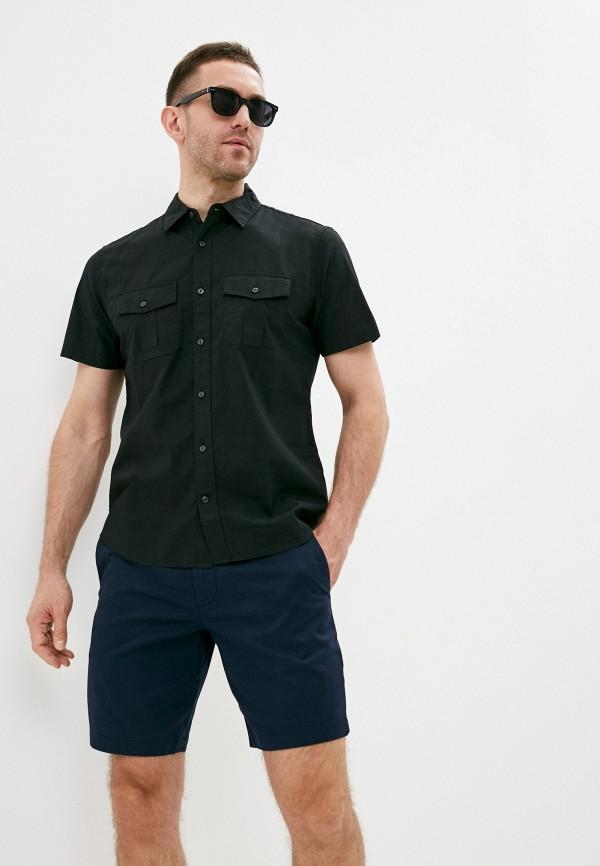 мужская рубашка с коротким рукавом gap, черная