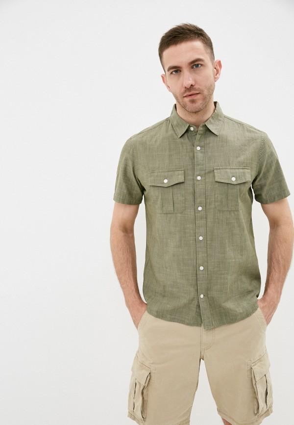 мужская рубашка с коротким рукавом gap, хаки