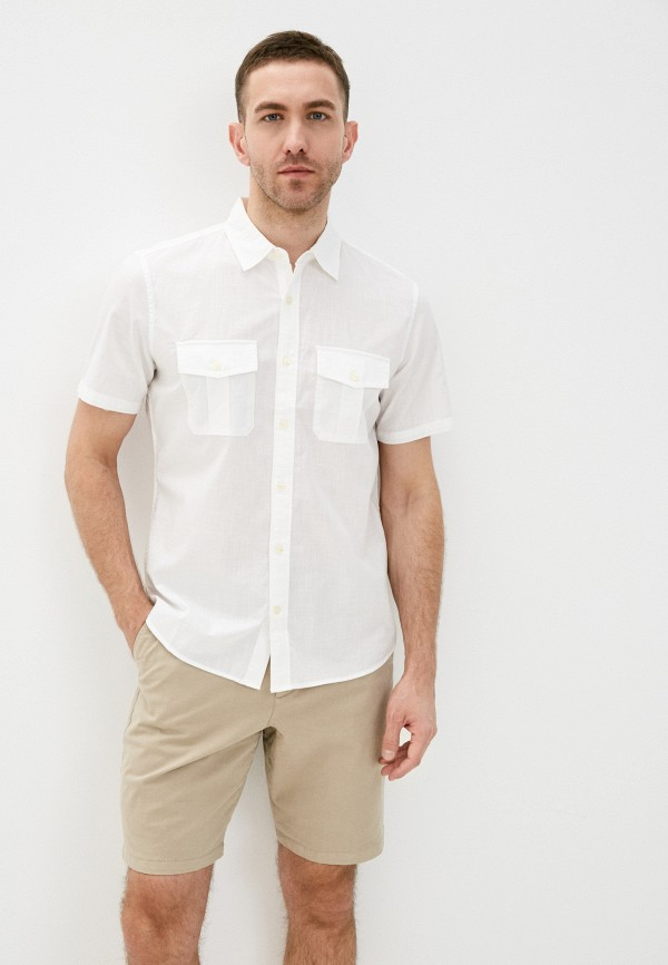 мужская рубашка с коротким рукавом gap, белая