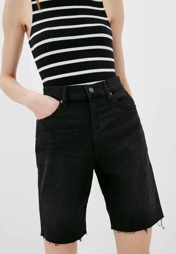 женские джинсовые шорты gap, черные
