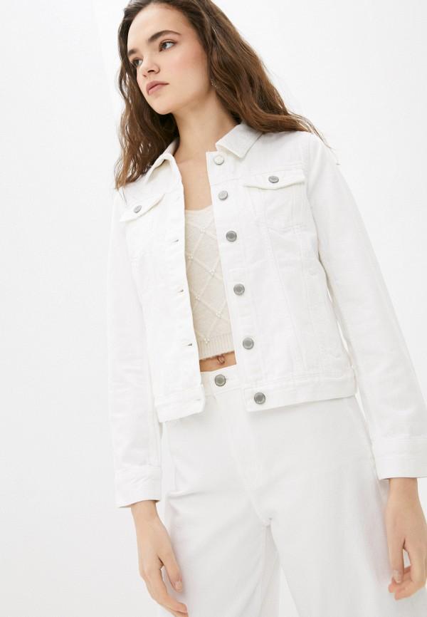 женская джинсовые куртка banana republic, белая