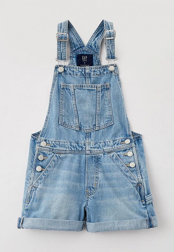 джинсовые комбинезон gap для девочки, голубой