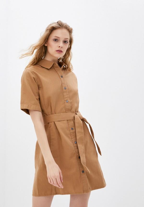 женское платье banana republic, бежевое