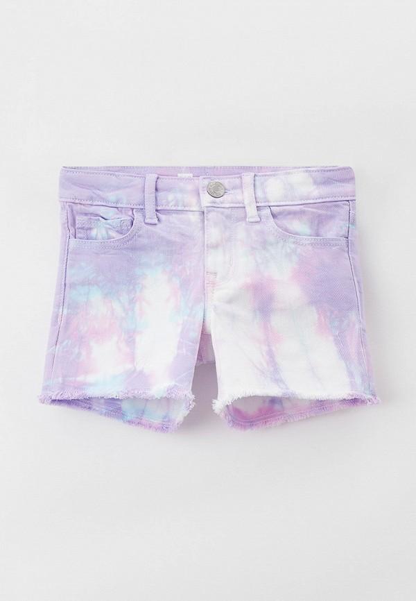 джинсовые шорты gap для девочки, фиолетовые