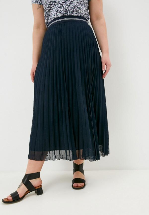 женская плиссированные юбка persona by marina rinaldi, синяя