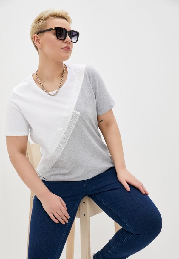женская футболка persona by marina rinaldi, разноцветная