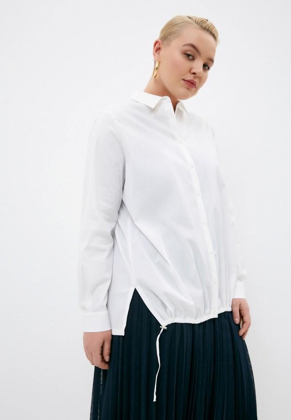 женская рубашка с длинным рукавом marina rinaldi voyage, белая