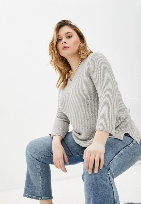 женский пуловер marina rinaldi voyage, серебряный