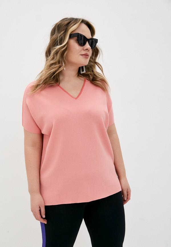 женский пуловер marina rinaldi voyage, розовый
