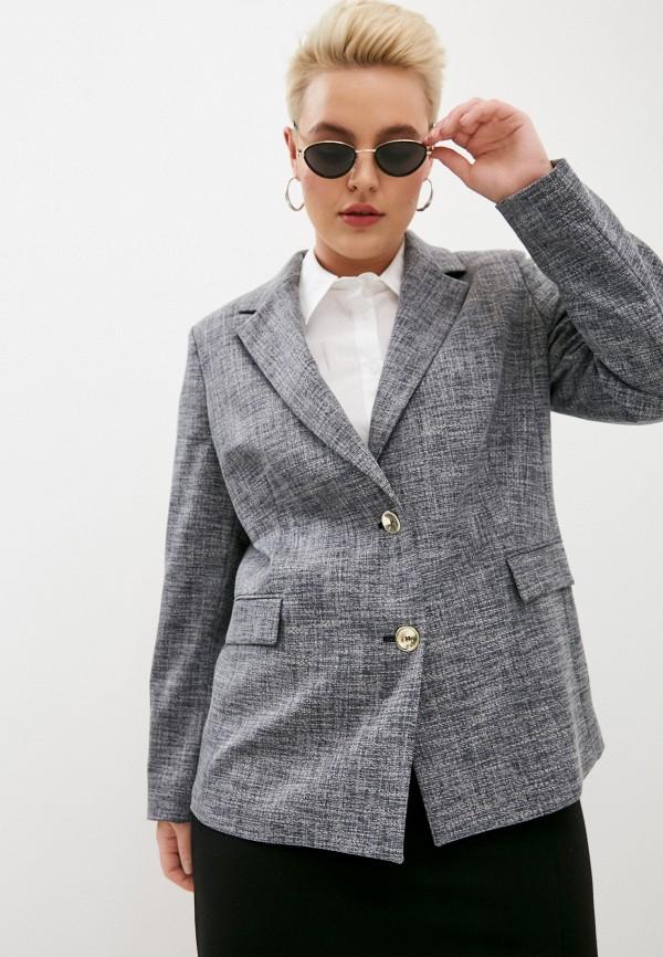 женский пиджак persona by marina rinaldi, синий
