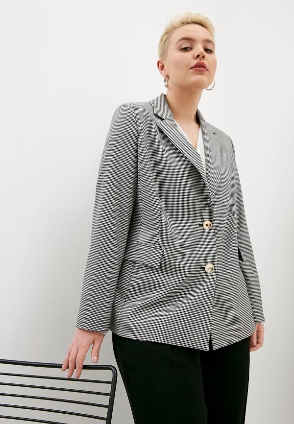 женский пиджак persona by marina rinaldi, серый