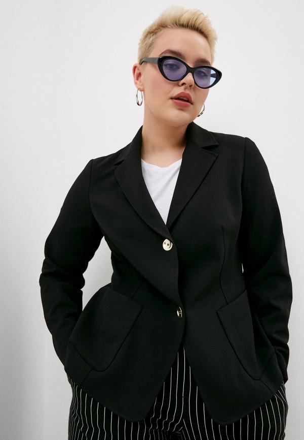 женский пиджак persona by marina rinaldi, черный