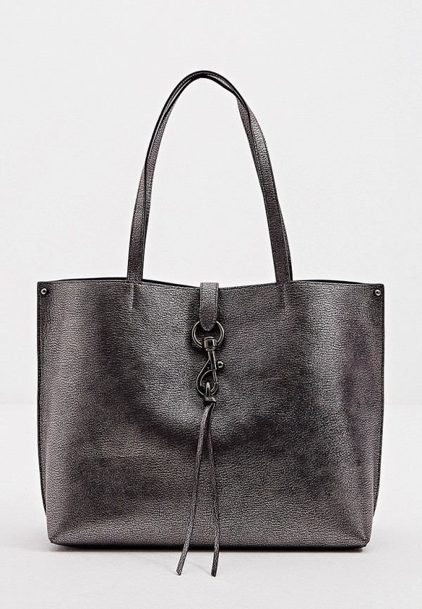 женская сумка-шоперы rebecca minkoff, серебряная