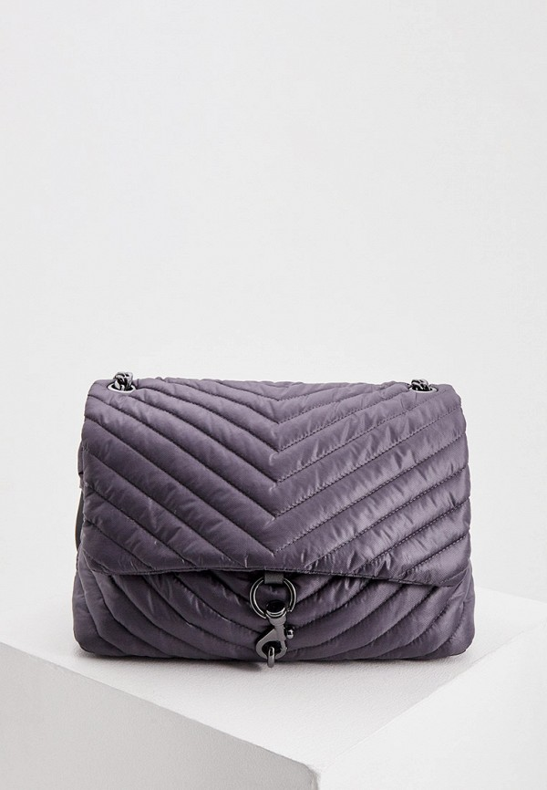 женская сумка через плечо rebecca minkoff, серая