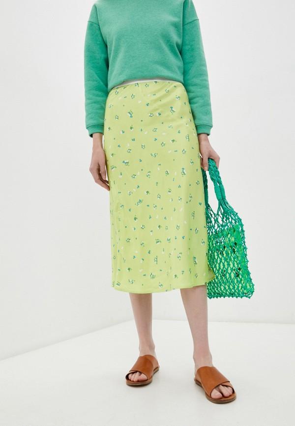 женская прямые юбка bimba y lola, зеленая