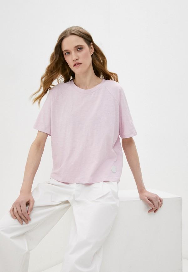 женская футболка bimba y lola, розовая