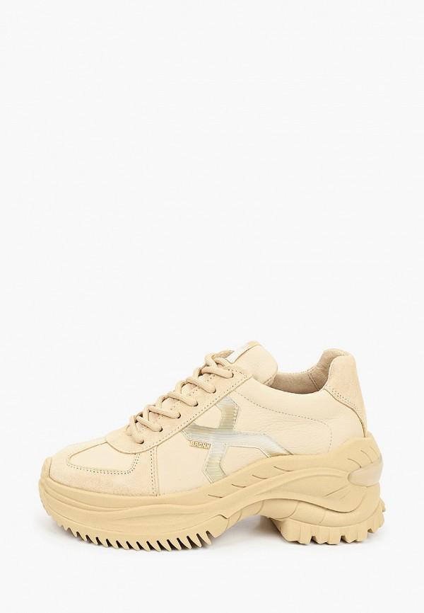 женские низкие ботинки bronx, бежевые