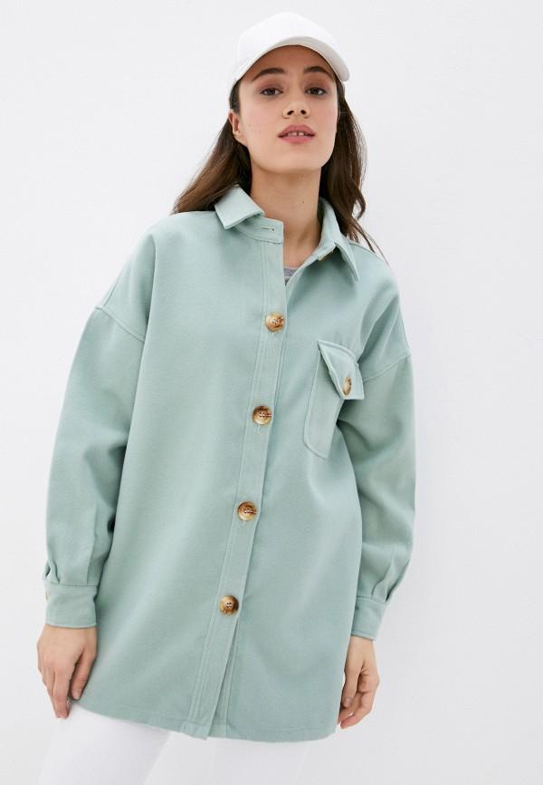 женская рубашка с длинным рукавом missguided, зеленая