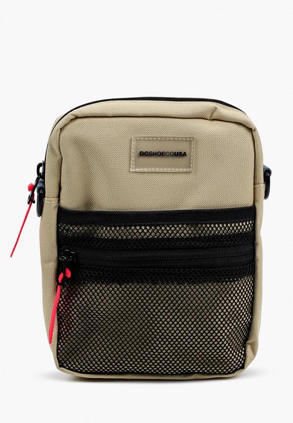 мужская сумка через плечо dc shoes, бежевая